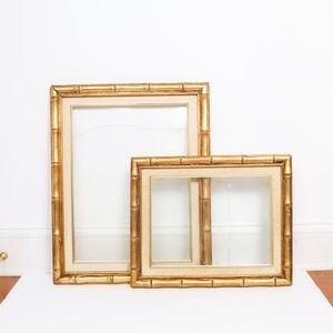 Other - Gold Bamboo Picture Art Frames Wall Decor